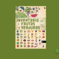 Inventario ilustrado de frutas y verduras apaisado